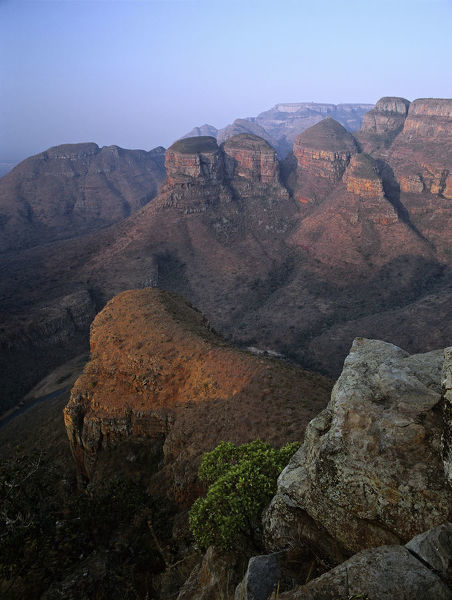 The Three Rondavels in the canyon that is the worlds third-largest, Blyde River Canyon Nature Reserve, Mpumalanga, South Africa