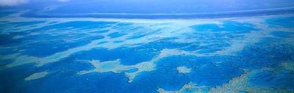 Black Reef and Hardy Reef, off Whitsunday group. Great Barrier Reef, Queensland, Australia