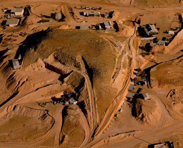 Coober Pedy, opal mining town with underground houses, shops and hotels. South Australia