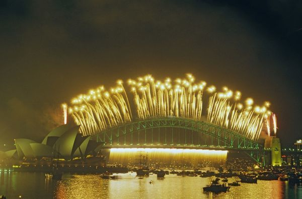 Fireworks on the Bridge Sydney, 26/1/88