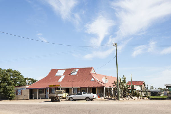 Hebel Hotel dating from 1894, originally a stopover for Cobb and Co. coaches. Hebel, southwest Queensland, Australia