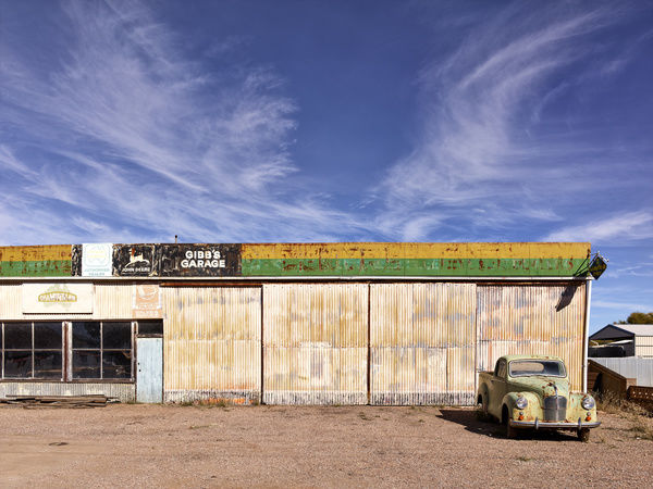 An old garage in a small town in the Flinders Ranges, Orroroo, South Australia, Australia