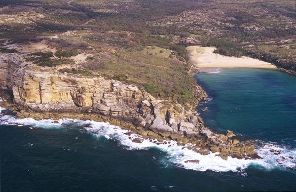 Providential Point and Wattamolla beach, Wattamolla, Royal National Park, south of Sydney, New South Wales, Australia