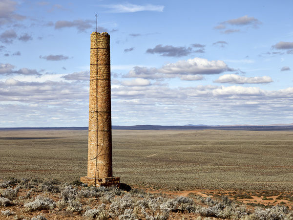 A remnant of a long-abandoned gold town, Waukaringa, 35 km north of Yunta, South Australia, Australia