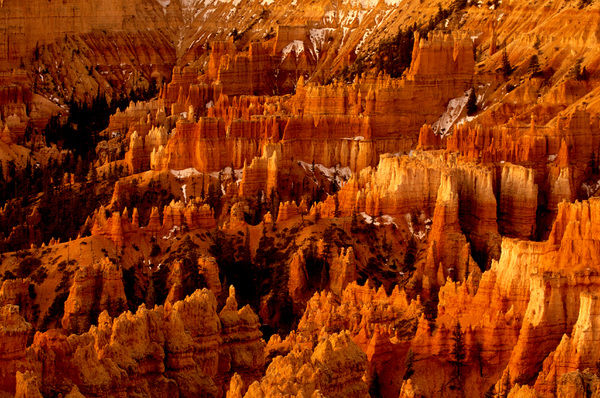 Rock formations - hoodoos, in early morning from Inspiration Point, Bryce Canyon National Park, Utah, USA