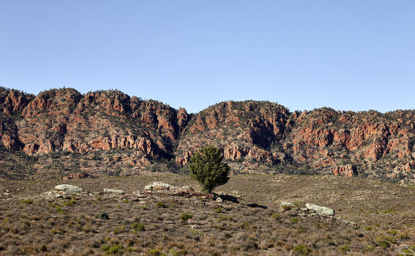 Rugged landscape of the Chace Range, southern Flinders Ranges, South Australia, Australia