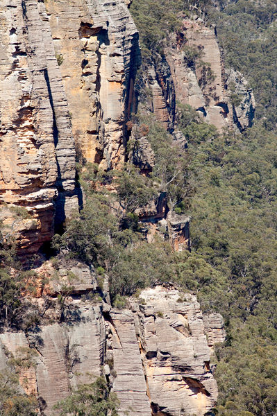 Sandstone cliffs, Gardens of Stone National Park, New South Wales, Australia