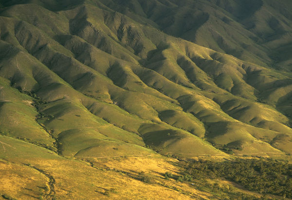 Southern Flinders Ranges, aerial photograph. South Australia