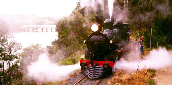 Steam engine, near Devonport, Tasmania, Australia