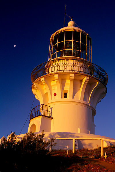 Sugarloaf Point Lighthouse, architect James Barnet, built 1875. Seal Rocks, New South Wales, Australia