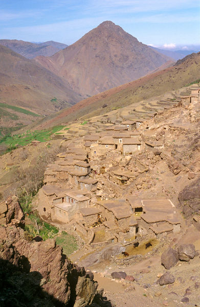 Tachidirt village High Atlas Mountains, Morocco