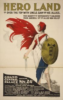 1917: a lithograph poster of Marianne, the national emblem of Fr