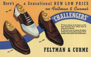 1940: advertising card for the Feltman & Curme shoe company