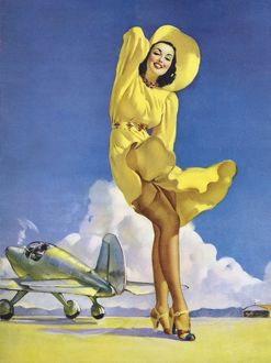 1939 pin-up girl by artisit Gil Elvgren