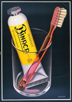 1942 poster for Binaca toothpaste by the Swiss designer Niklaus