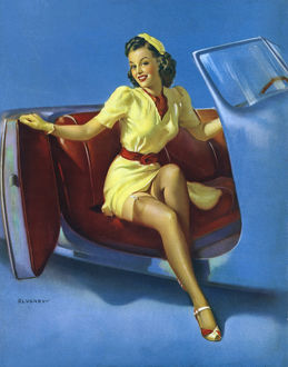 1943: Painting of a pinup girl called a€™The Sport Modela€™