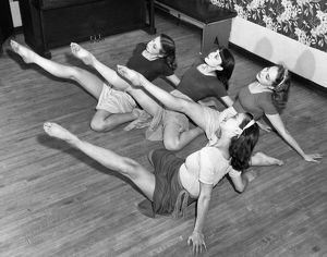 1944: a group of secretaries who like to dance perform their war
