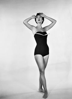 1960: fashion model wearing Sea Bird bathing suit