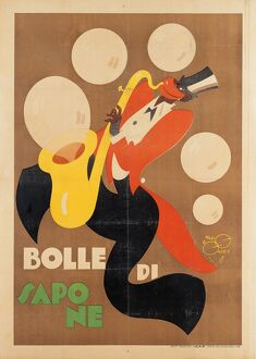 Advertising poster by artist Mario Pompei ca. 1920