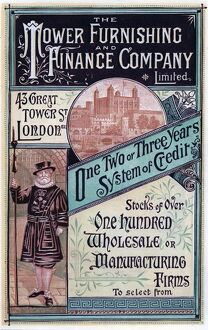 Advertising poster for Tower Funishing Finance Company,