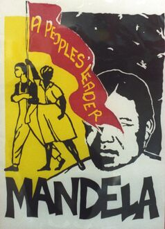African National Congress poster promoting Nelson Mandela