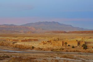 Ait Ben Haddou, a fortified city or ksar dating from the 17th century,