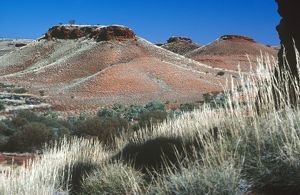 Buttes capped by remains of 3.5 billion-year-old seabeds,