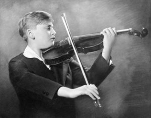 ca 1931: promotional photograph of Yehudi Menuhin as a child