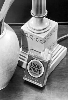 ca 1940: advertising photograph for Lucky Strike cigarettes