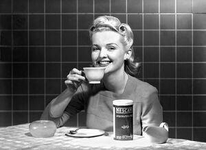 ca 1960: advertising photograph for Nescafe