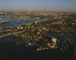City of Sydney with Drummoyne in foreground,