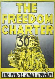 Commemorative poster of the Freedom Charter,
