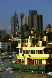 Commuter ferry from a harbourside suburb to the city,