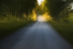 Conceptual image of unsealed forest road,