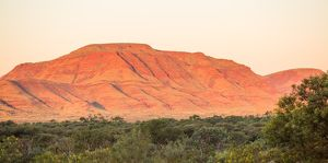 Dawn over hills of the Hamersley Ranges.