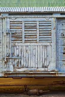 The door of an old freight train given a new lease of (rustic) life