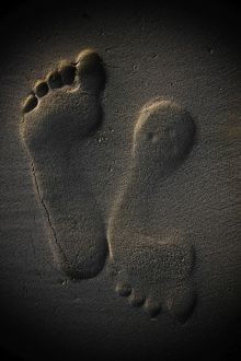 Footprints in sand,