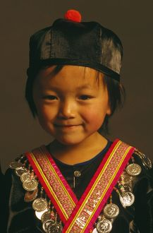 Hmong boy in traditional dress.
