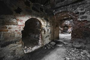 Interior of ruined Kagleholms Castle,