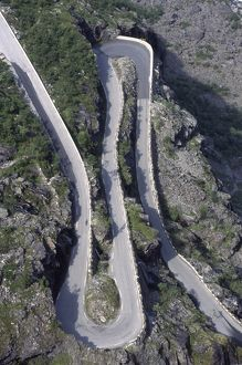 Mountainous road with hairpin bends