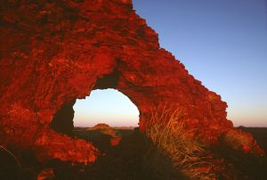 Natural arch of iron-rich sandstone,