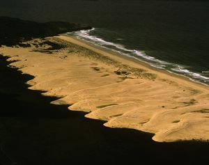 Pattern of sand dunes south of Hat Head,