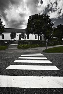Pedestrian crossing leading to Gustav III church,