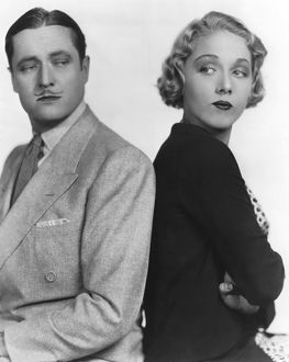 Publicity portrait of Edmund Lowe and Leila Hyams