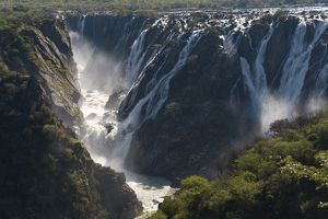 Ruacana Falls, one of the continent's largest and widest, dropping over a