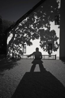 Shadow cast by statue of Engelbrekt Engelbrektsson,