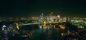 Sydney Harbour, Bridge and CBD at night