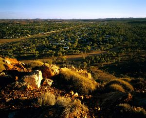 View of the town from the MacDonnell Ranges