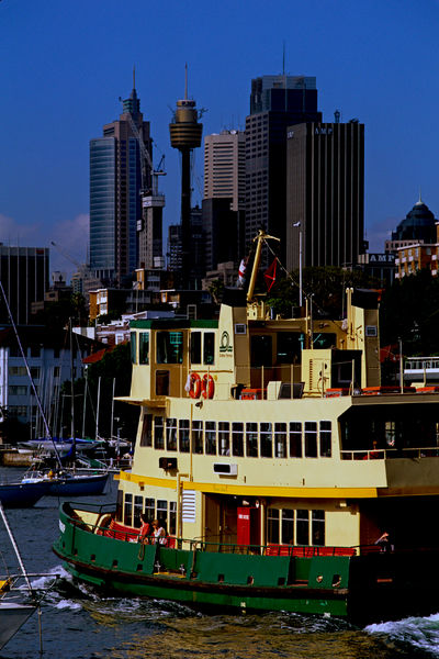 Harbour ferry approaching Circular Quay