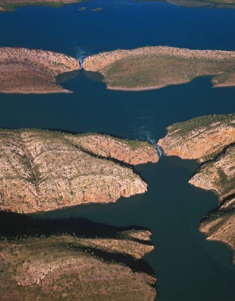 Horizontal waterfalls in Talbot Bay